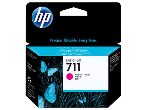 HP 711 29-ml Magenta DesignJet Ink Cartridge(CZ131A)