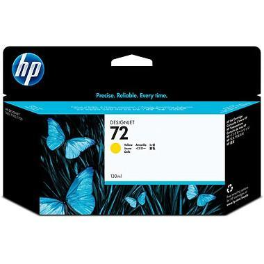 HP 72 130ml Yellow Ink (Genuine) C9373A T610 620 770 1100 1200