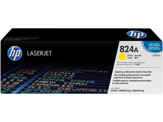 HP 824A Yellow Original LaserJet Toner Cartridge(CB382A)