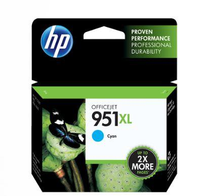 HP 951XL High Yield Cyan Original Ink Cartridge Genuine