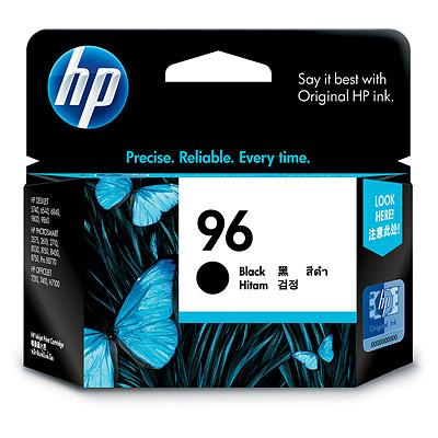 HP 96 Black Ink Cartridge (Genuine) C8767WA 6840 8030 9800 K7100 hp96