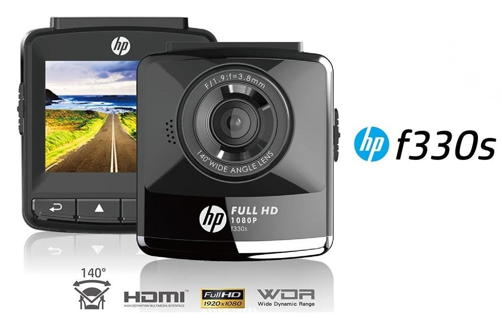 HP Car Camcorder F330s Full HD 1080P 140° Wide Angle (Black)