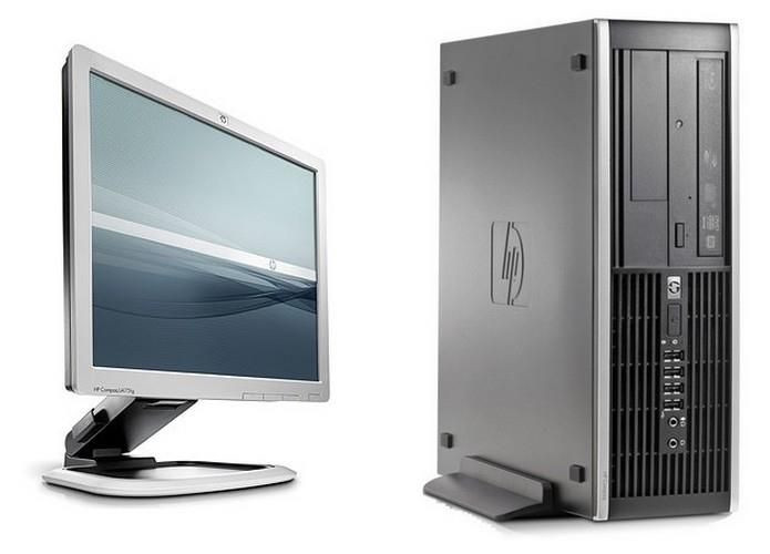 HP Elite 8000 (SFF) + 17' Monitor + WIFI Adapter