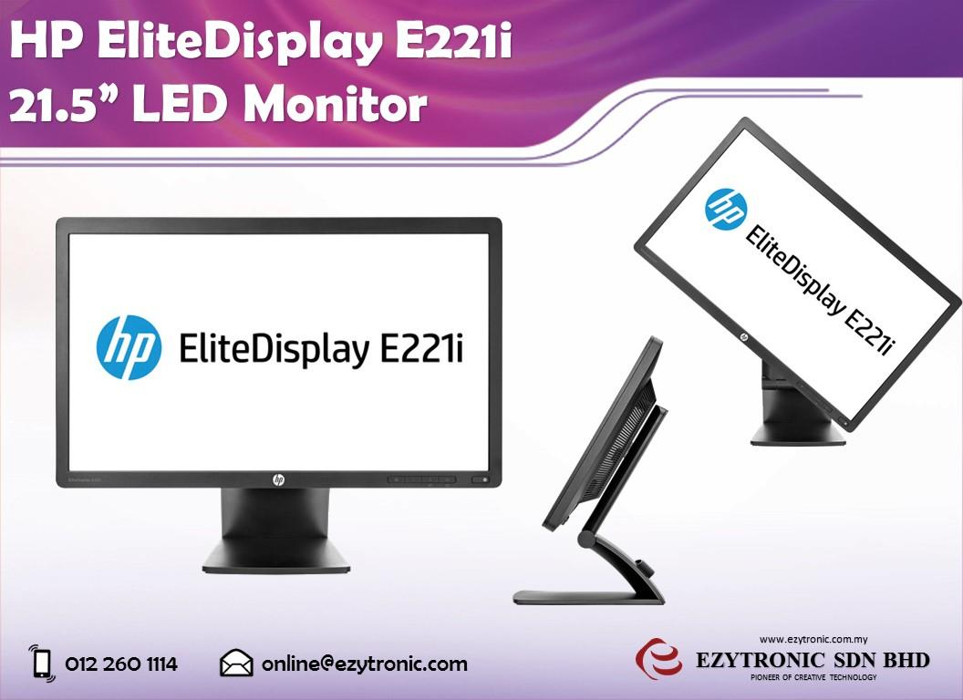 "HP EliteDisplay E221i 21.5"" IPS LED Backlit Monitor"