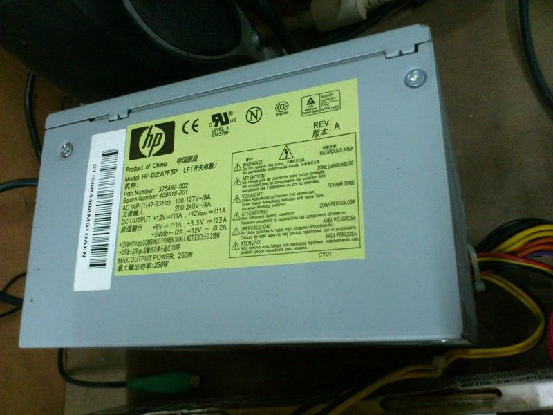 HP HP-D2567F3P 250Watt Max Power Supply 161113