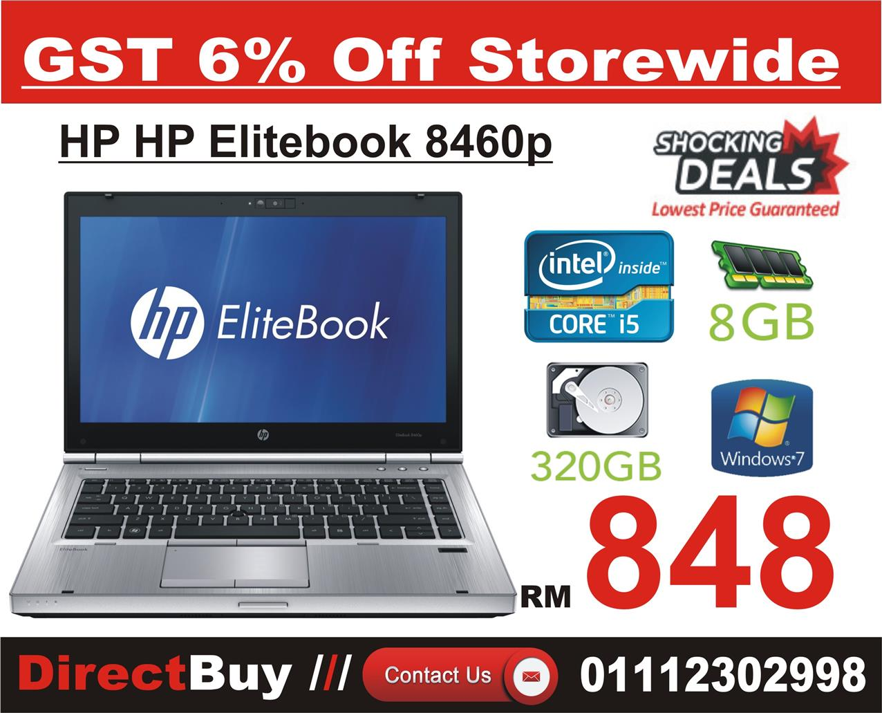 HP HP EliteBook 8460p i5 / 8GB RAM / HDD 320GB Original (win7)
