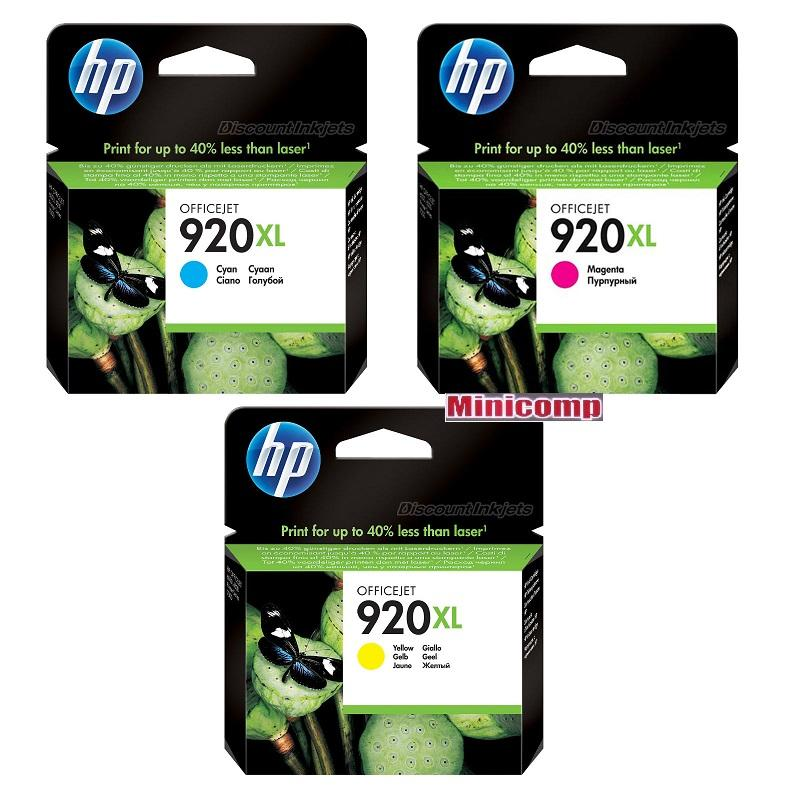 HP INK 920XL Tri Color ( Magenta Yellow Cyan ) 1 set Offer Genuine INK