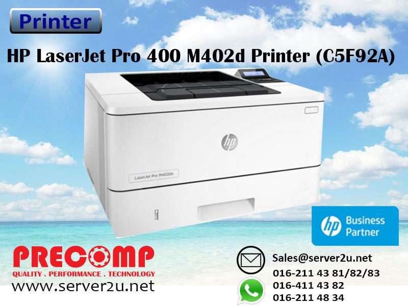 HP LaserJet Pro 400 M402d Printer (C5F92A)