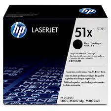 HP Q7551X (51X) Black Toner (Genuine) P3005 M3035 M3027 M3027x 7551