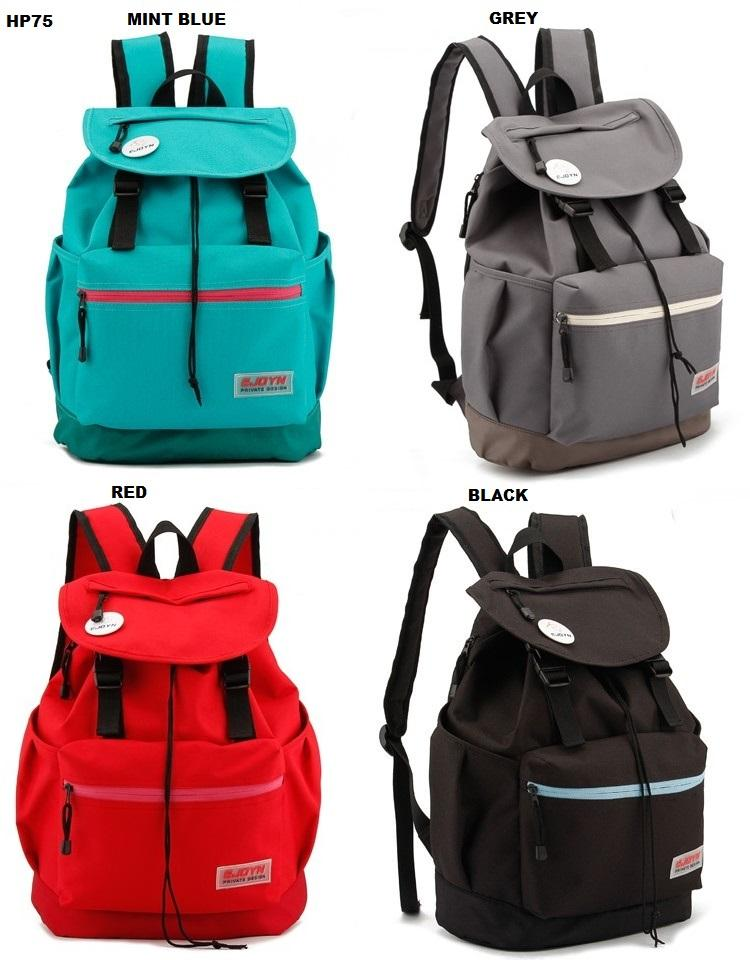 HP75 Korean Style Backpack / Working / School / Laptop / Ipad Bag