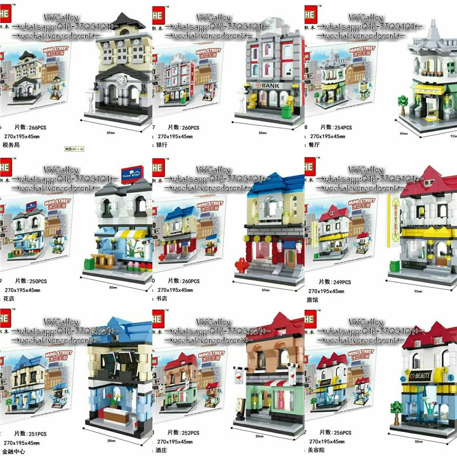 HSANHE 6416-6427 Diy Mini Street Series