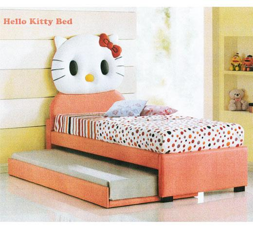 Ht Hello Kitty Upholstered Divan Single Bed With Trundle Kuala Lumpur End Time 9 25 2014 6 15