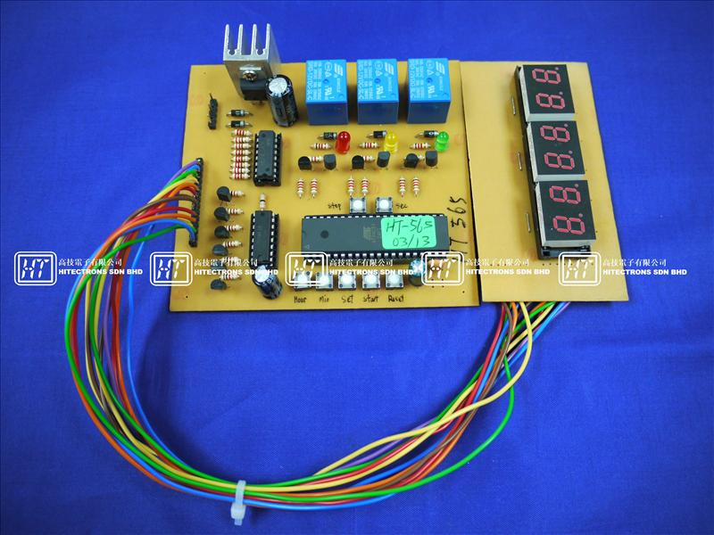 HT565 Digital Clock With Timer (3 Relays) / Electronics Kit