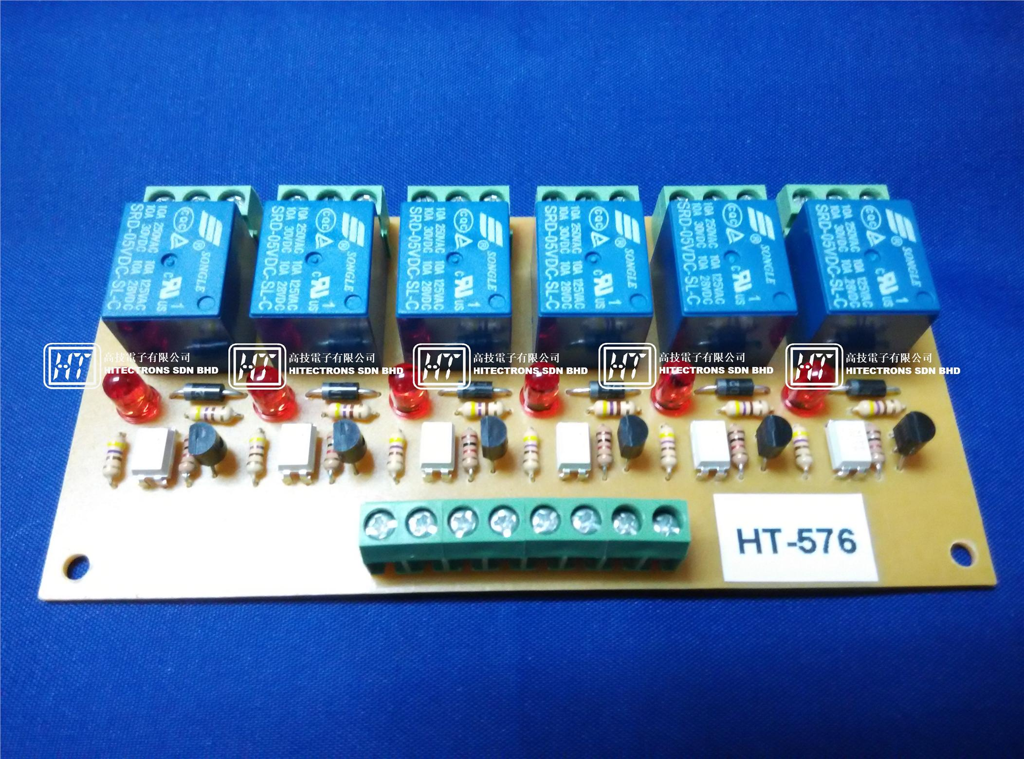 HT576 Six Channel Relay Board (NPN) 5Vdc / Electronics Kit