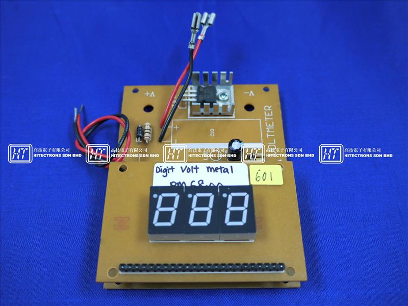 HT601 3 Digits Digital Voltmeter (LED) / Electronics DIY Hobby Kit Set