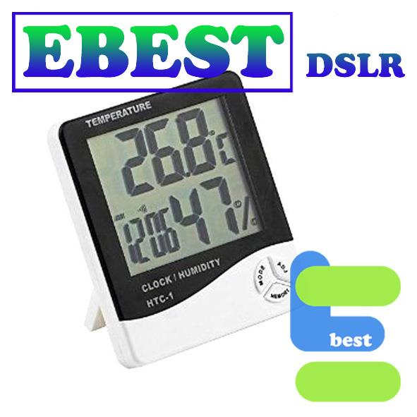 HTC-1 LCD Digital Display Temperature and Humidity Meter with Clock