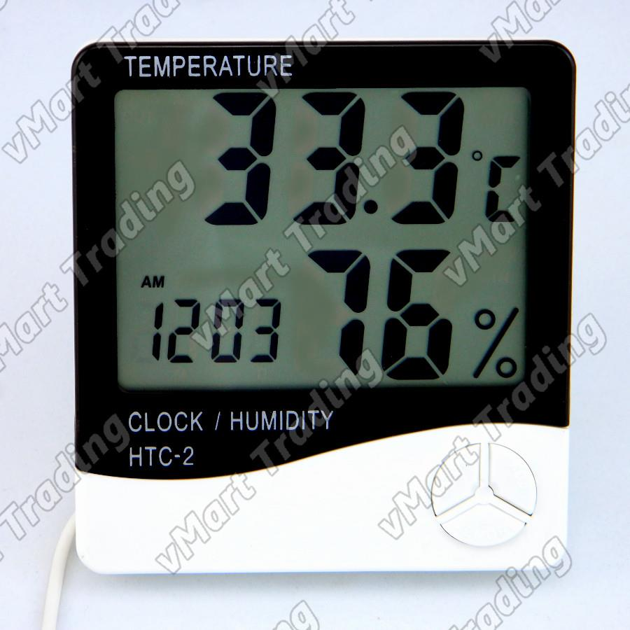 HTC-2ETH Digital Humidity Hygrometer Thermometer with external sensors