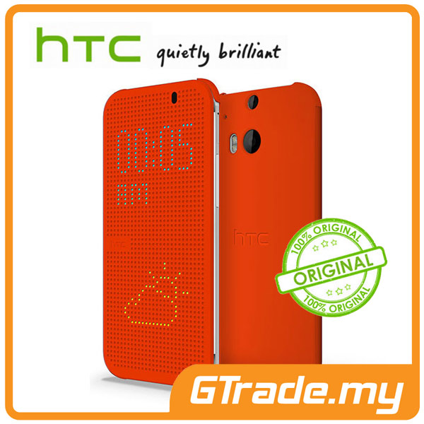 HTC Dot View Cover Case HC M1001 | One M8 - Orange