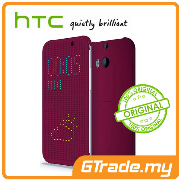 HTC Dot View Cover Case HC M1001 | One M8 - Purple