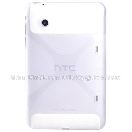 New HTC Flyer Silicone Soft Gel Transparent TPU Skin Tablet Cover Case