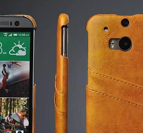 HTC M8 Leather Genuine Cowhide candy bar casing case cover