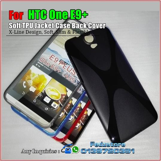 HTC One E9+ plus - Soft TPU Jacket Case Back Cover