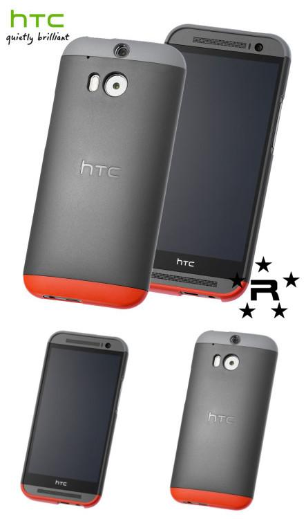 HTC One M8 Original Double Dip Hard Shell Case - C940 (Black) - rmtlee