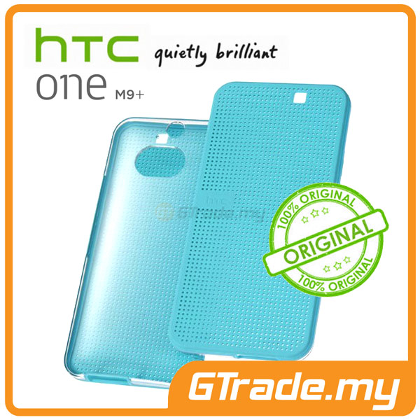 HTC Original Dot View Ice Premium Cover Case | One M9+ Plus Blue