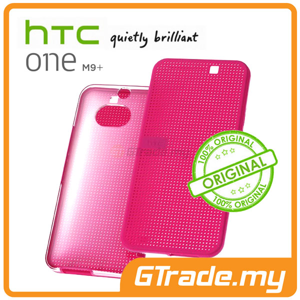 HTC Original Dot View Ice Premium Cover Case | One M9+ Plus Pink