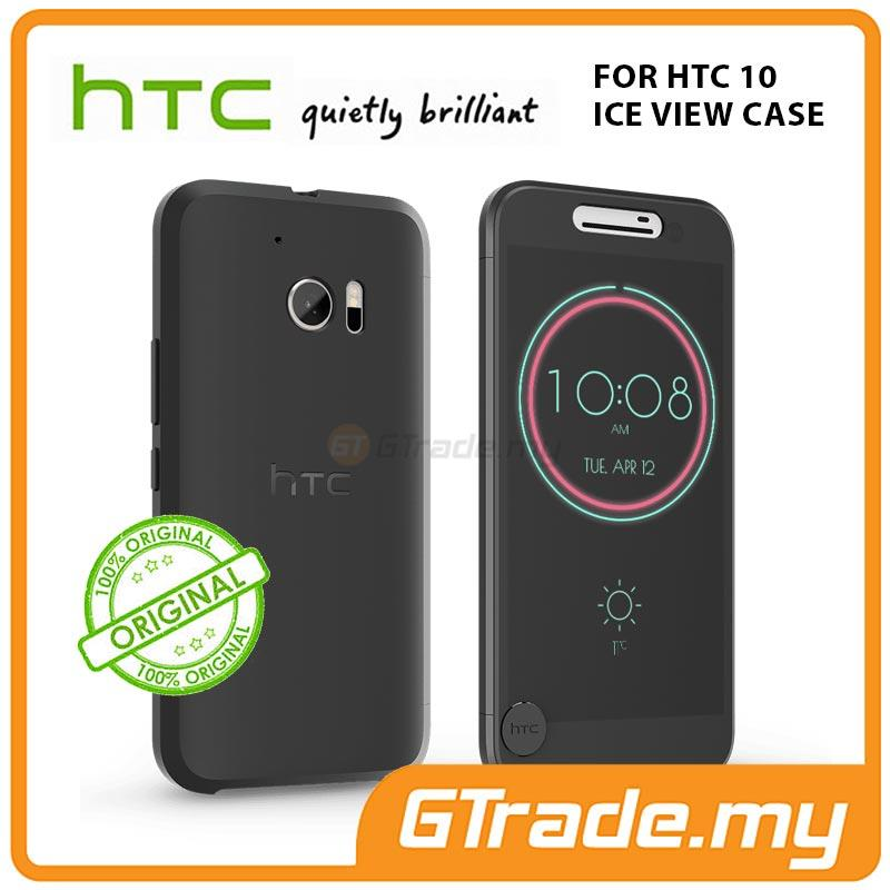 HTC Original Ice View Cover Case | HTC 10 Black