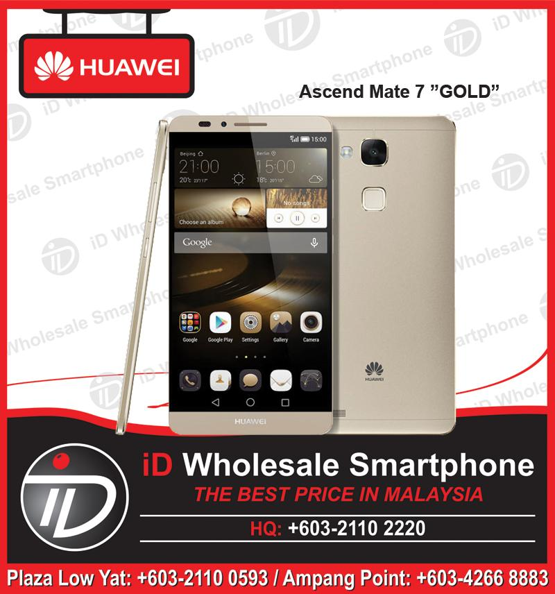"Huawei Ascend Mate 7 ""GOLD"" 13MP + 5MP Front Camera, FREE GIFTS"