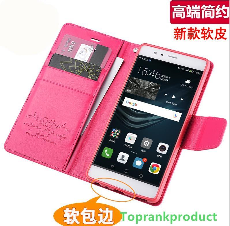 Huawei Ascend P9 / Lite Flip PU Leather Case Cover Casing + Free Gift