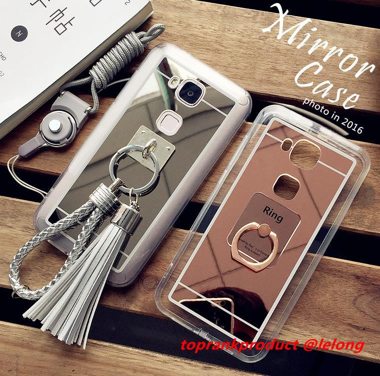 Huawei G8 Mirror Silicone Back Armor Case Cover Casing + Free Gifts