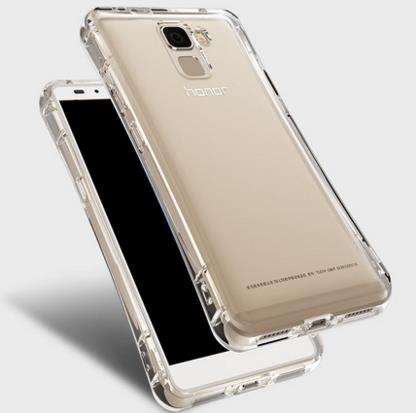 Huawei Glory Honor 7 Lanyard Transparent Bubble Silicone Casing Case
