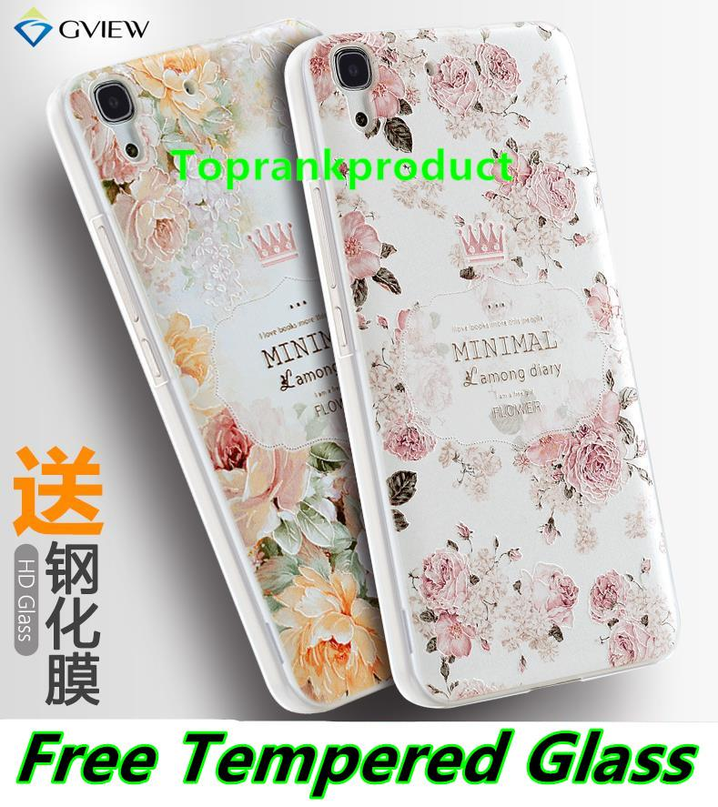 Huawei Honor 4A Y6 3D Relief Case Cover Casing + Tempered Glass