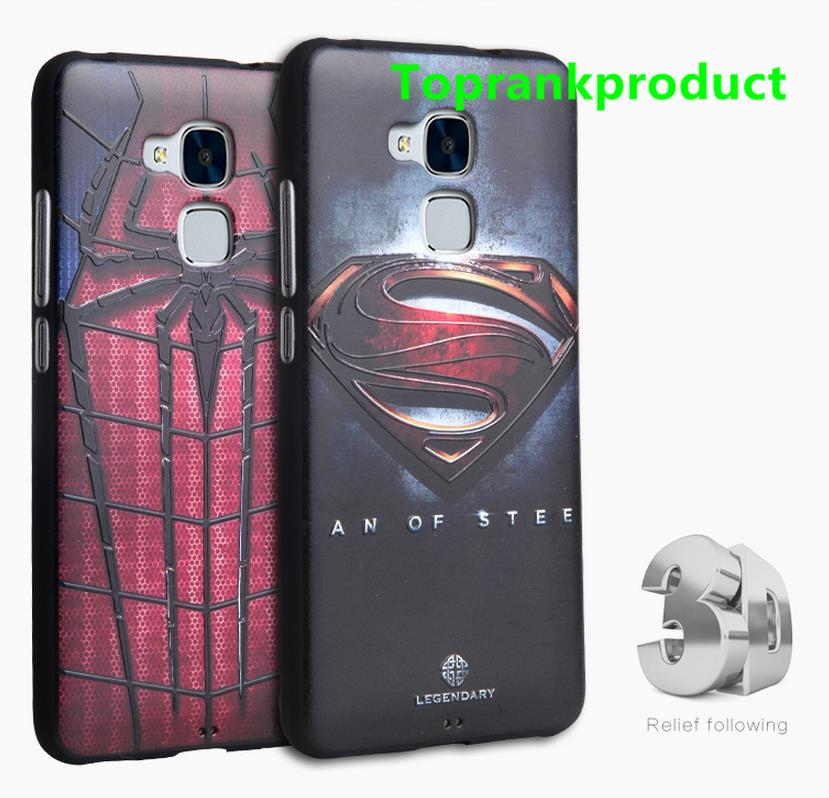 Huawei Honor 5C 3D Relief Silicone Back Case Cover Casing + Free Gift