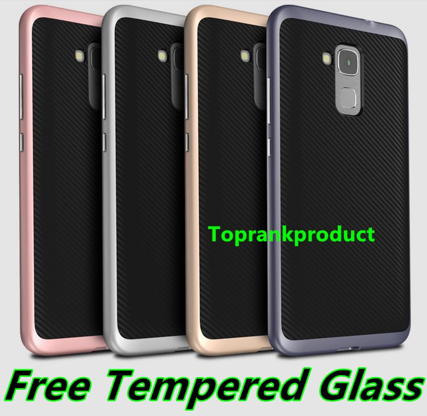 Huawei Honor 5C Neo Hybrid Back Case Cover Casing + Tempered Glass