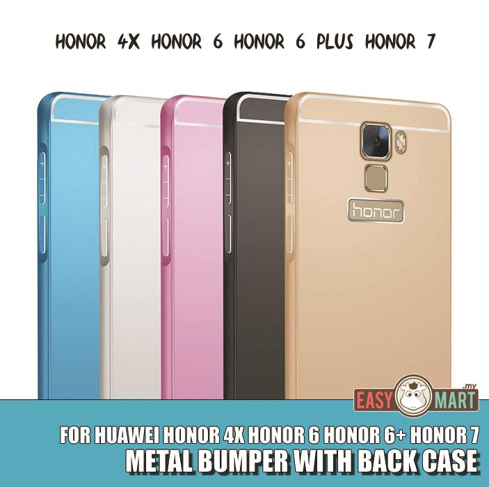 Huawei Honor 6 6 Plus 7 4X Slim Metal Bumper with Back Case Cover