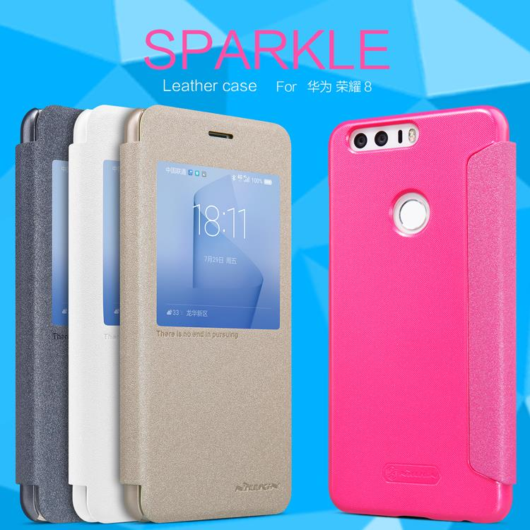Huawei Honor 8 Original Nillkin New Sparkle Leather Flip Case Cover