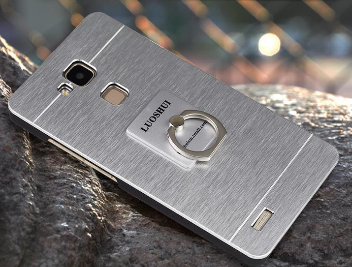 Huawei Honor Mate 8 7 6 Plus Back Case Cover Casing +Ring Holder Stand
