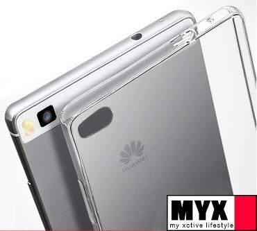 Huawei P7, P8, Mate 8  Silicone Clear Transparent Case Casing Cover