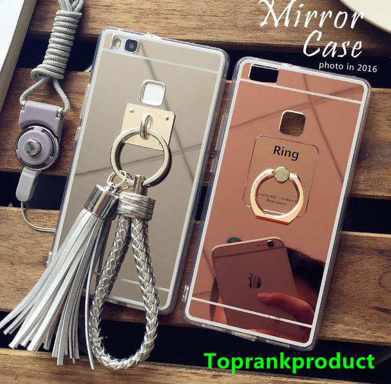 Huawei P9 / Lite Plus Mirror Silicone Case Cover Casing + Free Gift