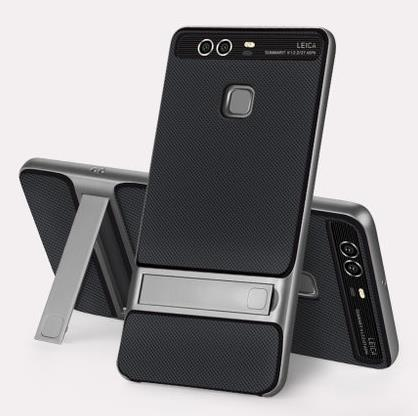 Huawei P9 Silicone Stand Casing Case Cover