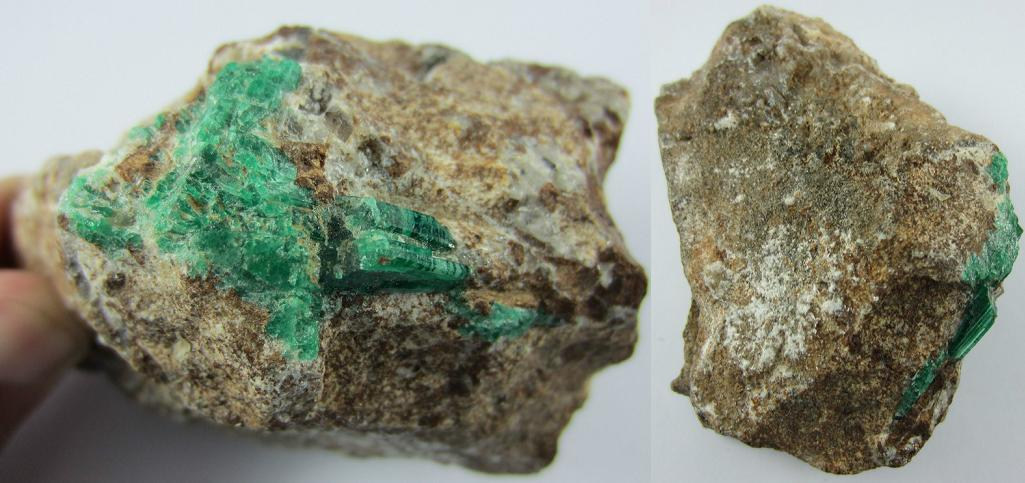 Huge Green Emerald Rough Stone From Swat Pakist End 3