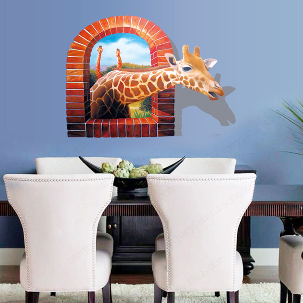 Huge Window 3d Giraffe Wall Sticker End 7 21 2017 10 23 Am