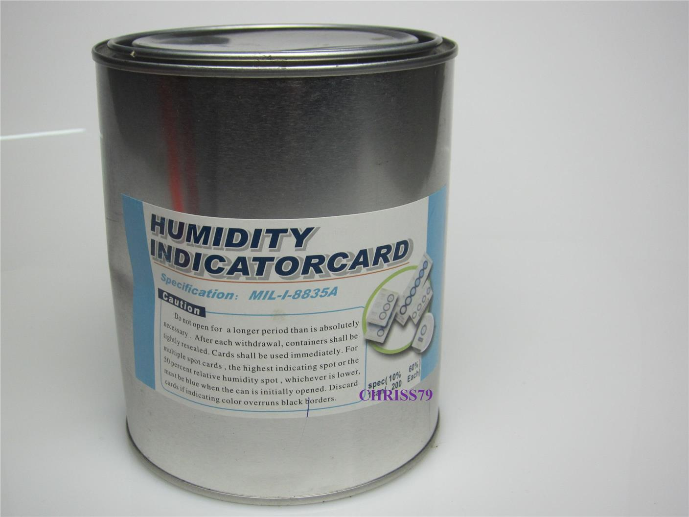 HUMIDITY INDICATOR COBALT FREE, FOOD GRADE