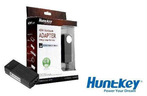 HUNTKEY 40W NOTEBOOK UNIVERSAL ADAPTER CHARGER (HKA03619021-8C)