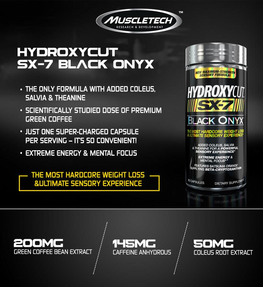 Hydroxycut Black Onyx (Hardcore Fat Burner+Energy) 80caps