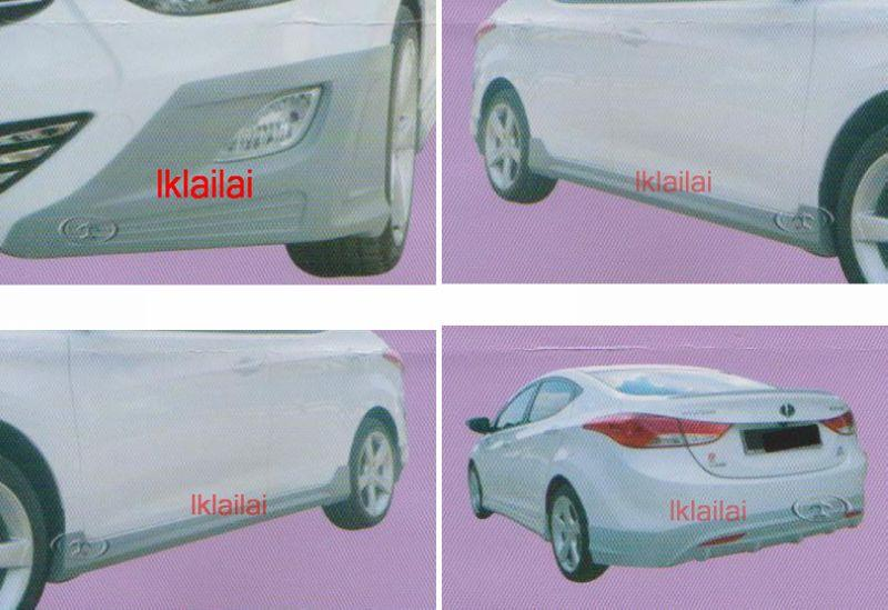Hyundai Elantra '11 Full Set Body Kit / Skirting [Fiber Material]