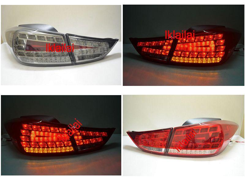Hyundai Elantra '12 Full LED Tail Lamp [Red-Clear/Smoke]